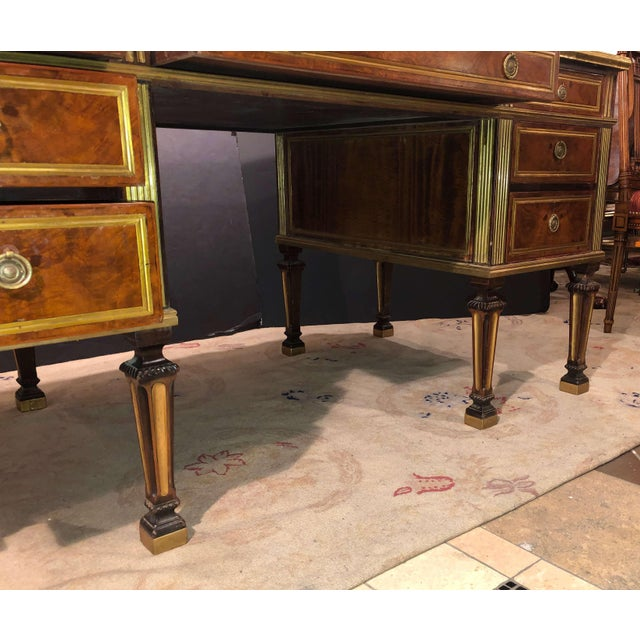 Russian Neoclassic Mahogany Desk For Sale - Image 9 of 10