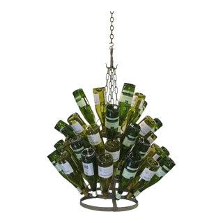 Vintage French Bottle Rack Chandelier