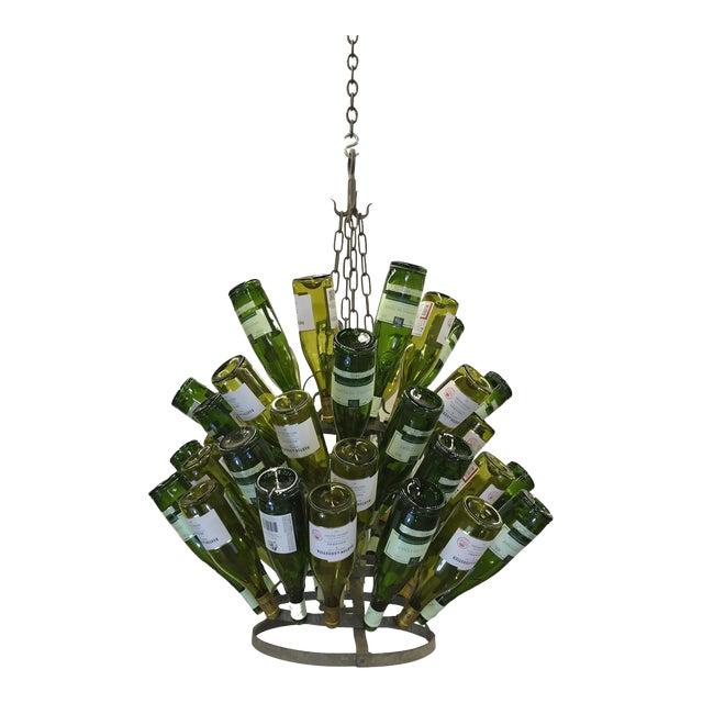 Vintage French Bottle Rack Chandelier - Image 1 of 5