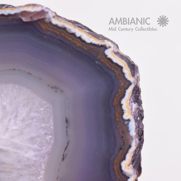 Amethyst Pair of Amethyst Bookends Made in Brazil For Sale - Image 7 of 10