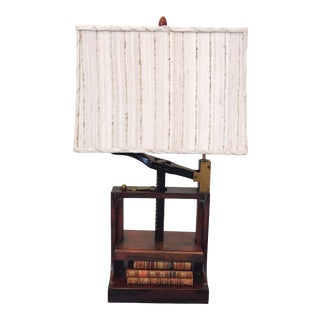 Antique Book Press Lamp For Sale