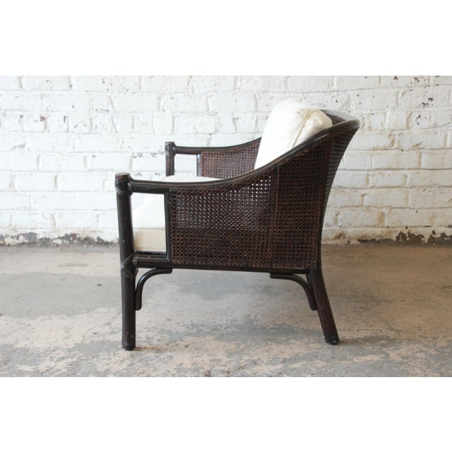Rattan and Cane Settee or Love Seat by McGuire of San Francisco For Sale In South Bend - Image 6 of 13