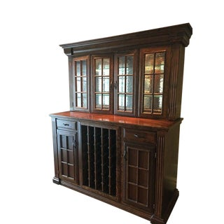 Contemporary Custom-Made Wine and Bar Cabinet For Sale