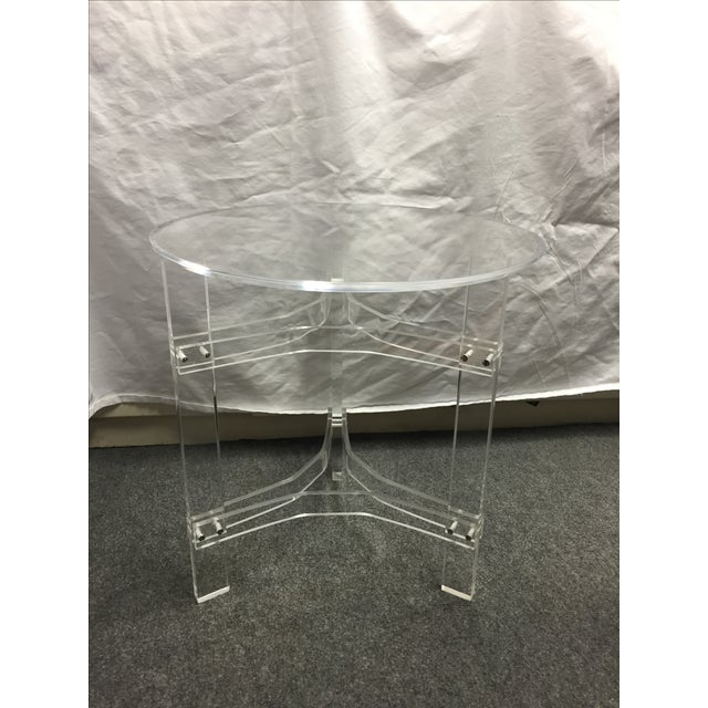 Mid-Century Modern Lucite Side Table - Image 2 of 9