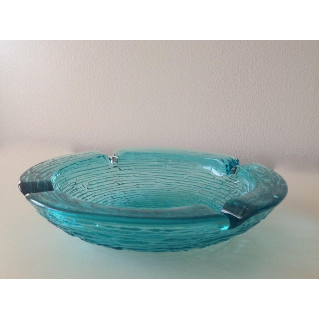 Contemporary Anchor Hocking Vintage Teal Ashtray For Sale - Image 3 of 8