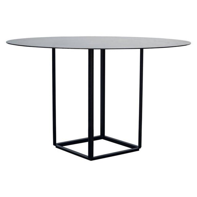 """Glass Contemporary Design Frères The """"Cuboid"""" Minimalist Center or Breakfast Table For Sale - Image 7 of 7"""