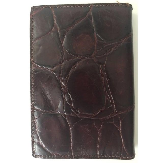 Vintage Italian Alligator Leather Address Book - Image 6 of 6