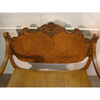 Late 1800's Victorian Quatersawn Oak Bench Preview