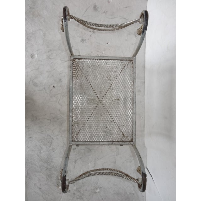 Regency Style Metal Bench For Sale - Image 7 of 7