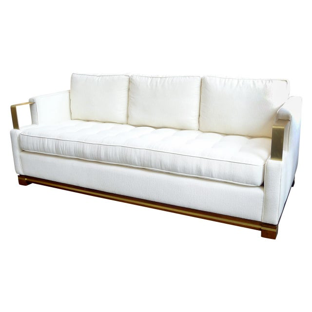 """Brass """"Cecil"""" Sofa For Sale - Image 7 of 7"""