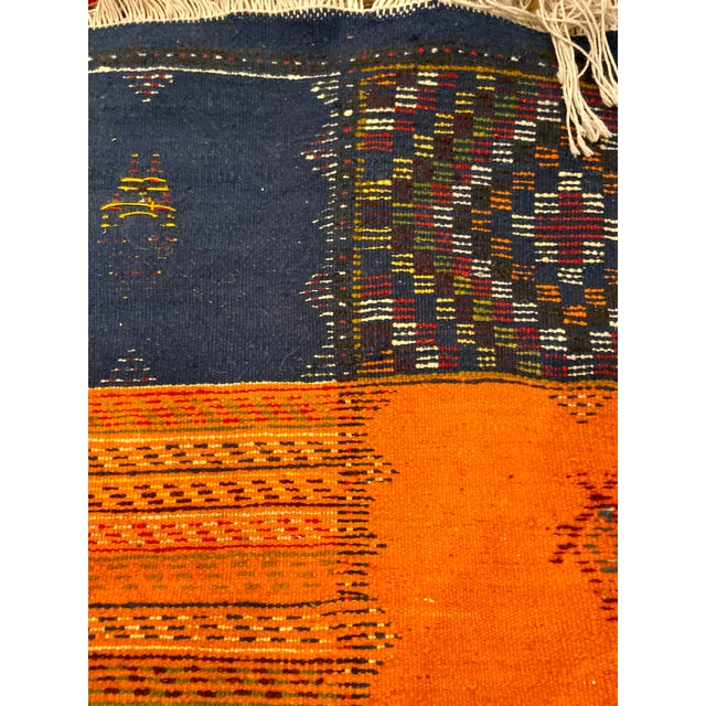 """Berber Handwoven Patchwork Rug-2'2'x8'8"""" For Sale - Image 4 of 8"""