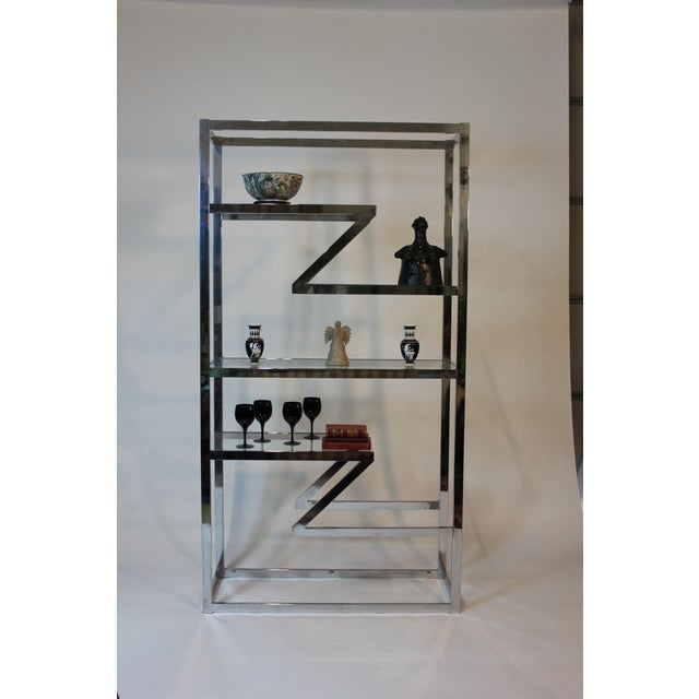 70's Chrome and Glass Etagere - Image 4 of 5
