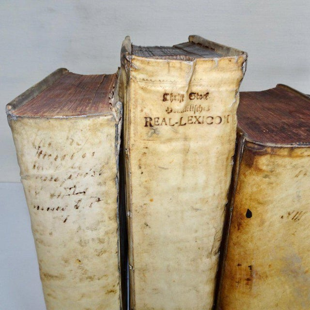 Mid 18th Century Antique Vellum Books Collection- Set of 6 For Sale - Image 4 of 10