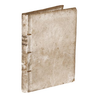 Early 17th Century Decorative Vellum Book, Renati Descartes Principia Philosophiæ For Sale