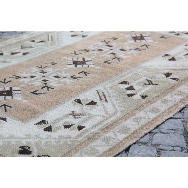 1970s Vintage Tribal Turkish Rug - 3′5″ × 5′1″ For Sale - Image 11 of 12