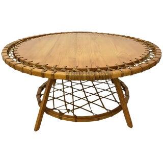 Circular Adirondack Style Coffee Table