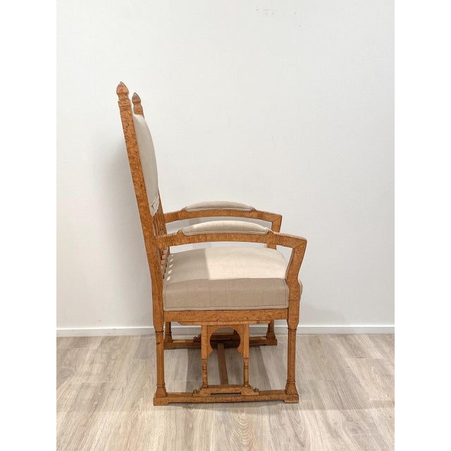 Yellow 19th Century Gothic Armchair For Sale - Image 8 of 9