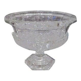 19th Century Antique English Glass Footed Compote For Sale