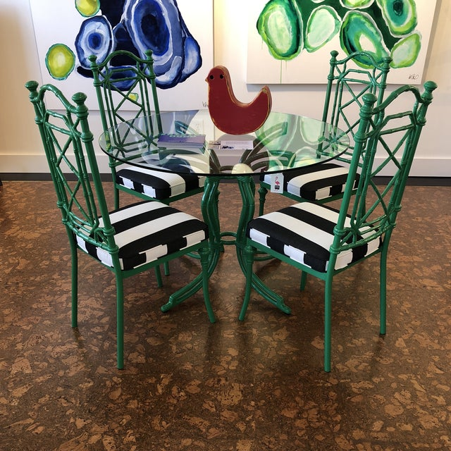 Mid 20th Century Vintage Bamboo Metal Kitchen Dining Set For Sale - Image 5 of 10