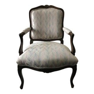 Vintage French Upholstered Armchair For Sale