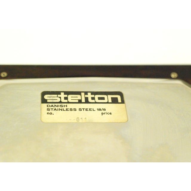 Metal Mid-Century Modern Stelton Stainless Tray For Sale - Image 7 of 7