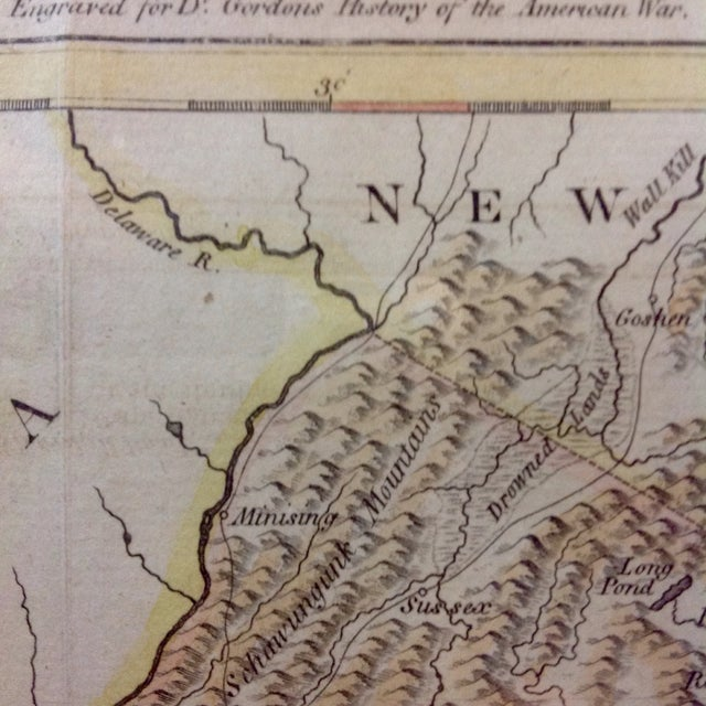 "1788 ""The Jerseys"" Hand Colored Engraved Map - Image 6 of 10"