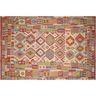 "Nalbandian - Contemporary Afghan Maimana Kilim - 6'6"" X 9'7"" For Sale"