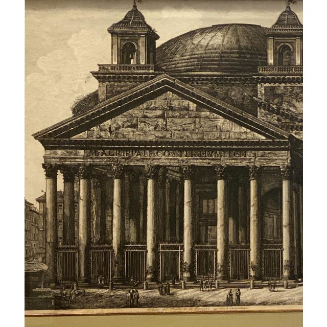 18th Century Piranesi Etching of the Pantheon, Circa 18th Century For Sale - Image 5 of 6
