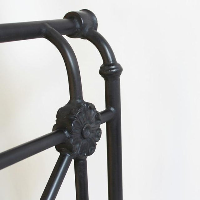 French Blackened Iron Daybed For Sale - Image 3 of 4