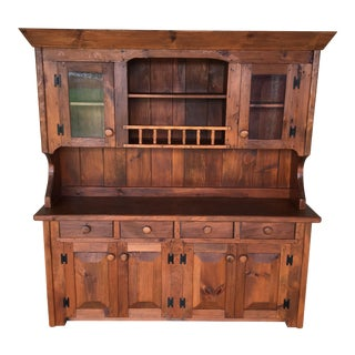 Hunt Country Furniture Country Pine Rough Cut Hutch For Sale
