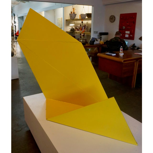 Yellow Abstract Steeel Sculpture by Betty Gold For Sale - Image 8 of 8