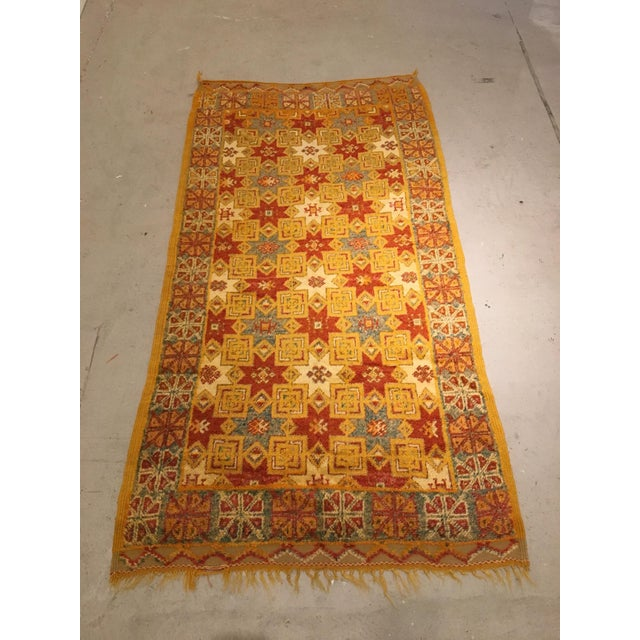 Gold Multi Moroccan rug For Sale - Image 11 of 11