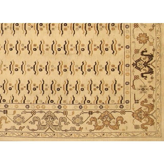 """Textile Kafkaz Peshawar Marinda Tan & Tan Wool Rug - 8'11"""" x 14'10"""" For Sale - Image 7 of 7"""