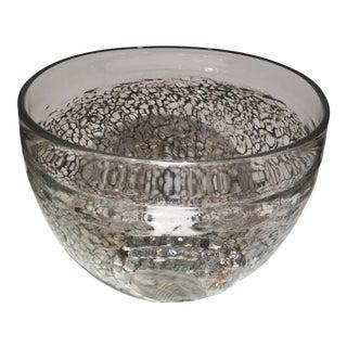 Kosta Boda Decorative Glass Bowl, Signed K. Engman For Sale