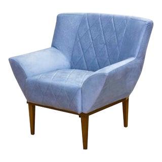Modern Veneza Sky Blue Armchair For Sale