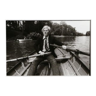 """Christopher Makos, """"At the Bois De Boulogne"""", Photograph of Andy Warhol For Sale"""