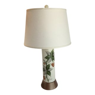 Mid-Century Hand-Painted Lamp For Sale