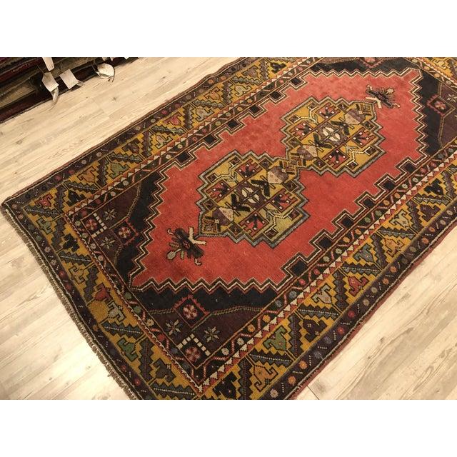 Vintage Oushak Handmade Rug-3′8″ × 6′3″ For Sale - Image 6 of 7