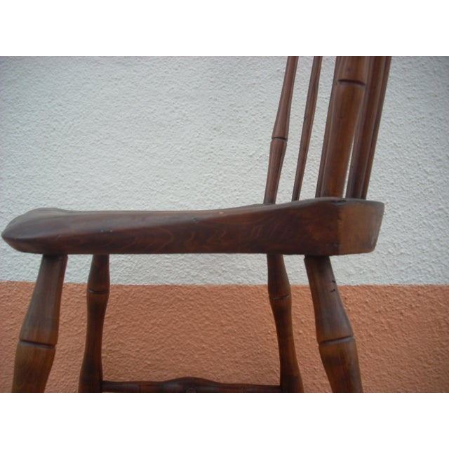 Primitive Windsor Chair - Image 6 of 7