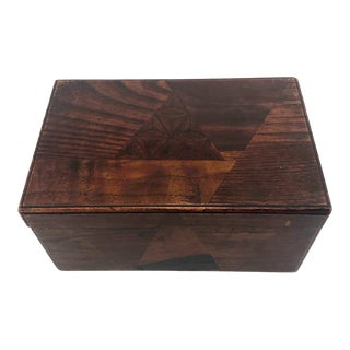 Antique Japanese Marquetry and Lacquer Box With Interior Tray For Sale