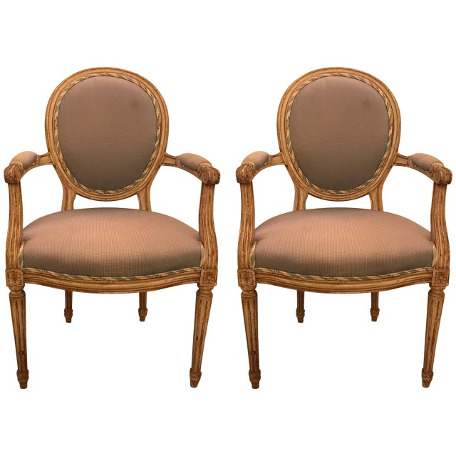 1950s French Maison Jansen Classic Balloon Armchairs - a Pair For Sale