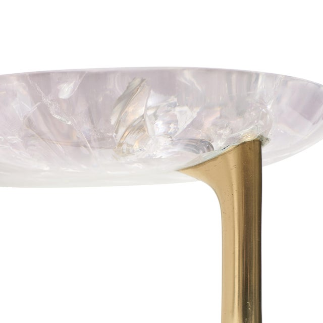 Sylvan S.F. Uovo Side Table (Ice-Cracked Resin) by Sylvan San Francisco For Sale - Image 4 of 8