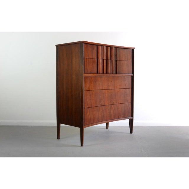 Edmond Spence Tall Dresser in Walnut, Sweden For Sale - Image 11 of 11