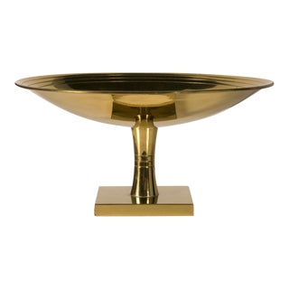 Tommi Parzinger for Dorlyn Brass Footed Compote For Sale