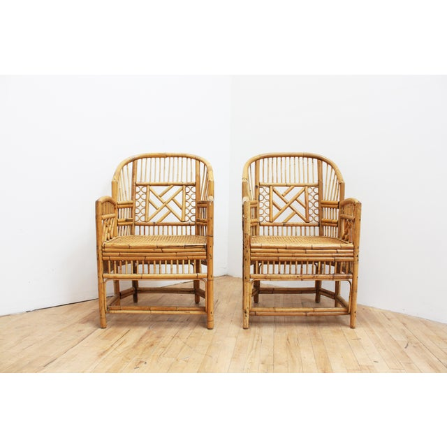 A Pair of Bamboo Brighton Pavilion Chairs - Chinese Chippendale For Sale - Image 9 of 10