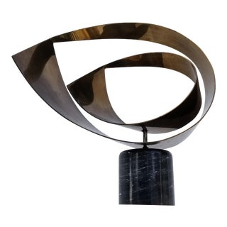 1980's Vintage Curtis Jere Brass Sculpture For Sale