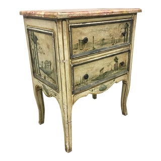 19th C Venetian Petite Painted Chest of Drawers - Commode For Sale