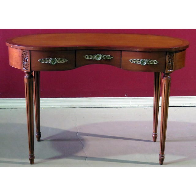 Louis XVI Style Inlaid Writing Desk For Sale In Philadelphia - Image 6 of 6