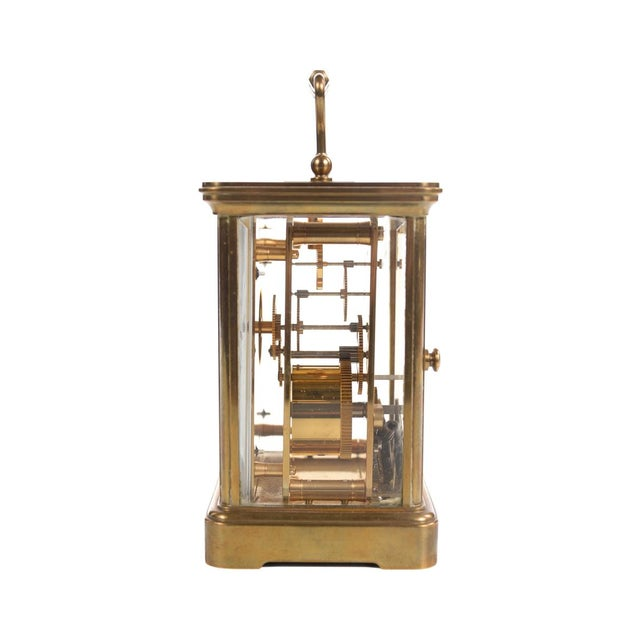 Tiffany & Co. Vintage Brass Carriage Clock For Sale - Image 5 of 9