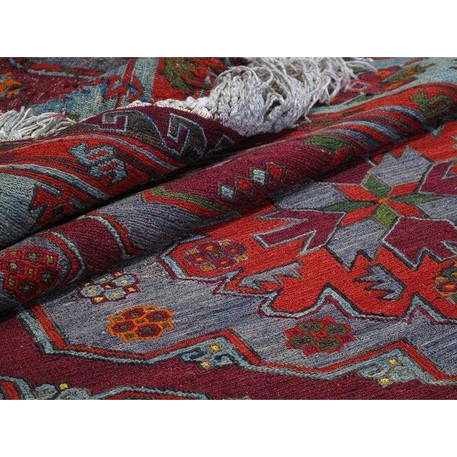 Caucasian Sumak Carpet For Sale - Image 10 of 10